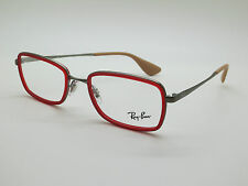 NEW Authentic Ray Ban RB 6336 2856 Red/Gunmetal 51mm RX Eyeglasses