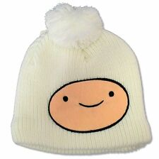 """ADVENTURE TIME"""" FINN"""" WHITE KNIT BEANIE NEW OFFICIAL ADULT"""