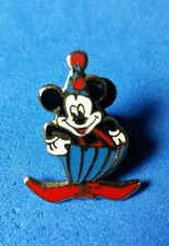 French Disney Pin Mickey Mouse Dressed as a Clown Blue & Red