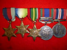 Canadian Atlantic & Pacific Naval Medal Group of (5) WW2 Medals with clasp