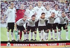 "GERMANY ""2010 NATIONAL TEAM ON THE PITCH"" SOCCER POSTER -FIFA World Cup Football"