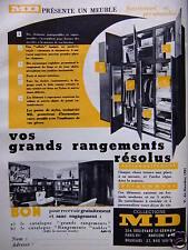 PUBLICITÉ 1959 MD PRÉSENTE UN MEUBLE VOS GRANDS RANGEMENTS RÉSOLUS - ADVERTISING