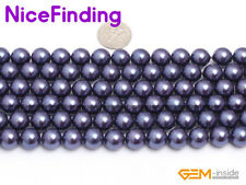 """10mm Round Shell Pearl Stone Beads For Jewelry Making Gemstone In Bulk 15"""" DIY"""
