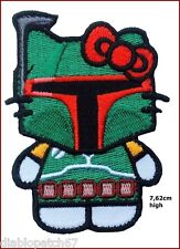 VELC. Star Wars Hello Kitty Bobba Fett Morale Funny Applique 3 inch high Patch