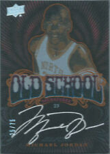 2012/13 EXQUISITE OLD SCHOOL ON-CARD AUTO SERIAL #'25/75 MICHAEL JORDAN BULLS XX