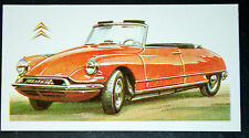 CITROEN DS 19 Convertabe     Vintage Illustrated Card  # VGC