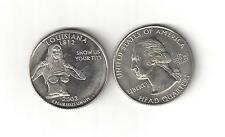 LOUISIANA NUDE SEXY BUSTY GIRL WOMAN LADY STATE QUARTER NOVELTY COIN TOKEN T*Ts