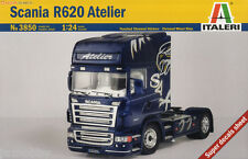 Italeri 3850 1/24 Scale Plastic Model Truck Kit Scania R620 Atelier R500