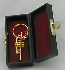 "Trumpet replica 1.75"" with keychain(Gold/Silver)"