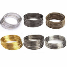 Wholesale 100/500 Loops Silver/Gold Memory Steel Wire Cuff Bangle Bracelet DIY