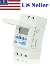 Digital LCD DIN Programmable Weekly Rail Timer AC 110V 16A Time Relay Switch New