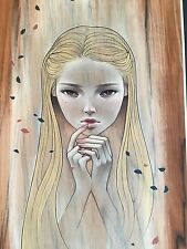 Audrey Kawasaki Fragile Print S/N #/200 COA PURE MINT SOLD OUT POSTER OBEY KAWS