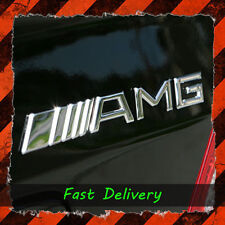 AMG Badge Boot 3d logo in metallo Emblema Decalcomania POSTERIORE MERCEDES BENZ CROMATA MERC
