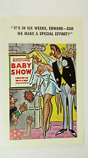 1960s Risque Funny Postcard Blonde Big Boobs Bride Wedding Baby Show Edward