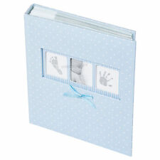 "Baby Boy Blue White Polka Dot Photo Album 200 Photographs 6"" x 4"" Picture Book"