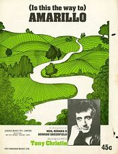 TONY CHRISTIE - IS THIS THE WAY TO AMARILLO - VINTAGE SHEET MUSIC AUSTRALIA