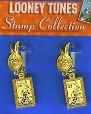 Looney Tunes USPS Stamp Collection Bugs Bunny PIerced Earrings, Made in USA NEW