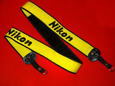 Vintage yellow old Nikon camera large neck strap for digital & film reflex srl
