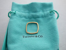 Tiffany & Co. Frank Gehry 18K Rose Gold Torque Square Micro Band Ring Size 7