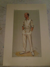 VANITY FAIR PRINT CRICKET PLUM MR PELHAM F WARNER UK POSTAGE