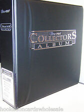 "Ultra Pro 3"" Black Card Collector Binder & 50 Ultra Pro Platinum 9 Pocket Pages"