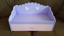 Pink and Purple Wood Doll Day Bed/Trundle For American Girl 18 Inch Doll