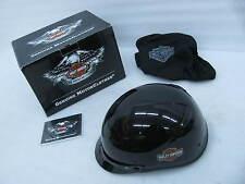 New Harley Davidson 1/2 Helmet Medium Deep Cavity Gloss Black 98283-14VM/000M