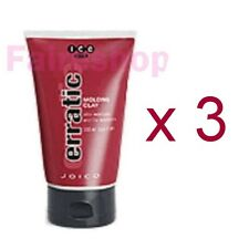 Joico ICE Erratic Hair Styling Molding Clay Paste Curls Dreads Matte 100ml x 3