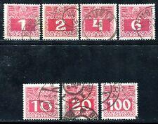 ÖSTERREICH PORTO 1908 34-44y dünnes PAPIER 7 WERTE 70€(A8386