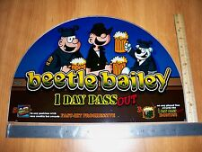 IGT Beetle Bailey Round Top and Belly Slot Machine Glass