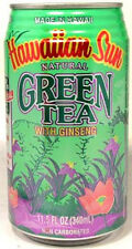 "FULL NEW 11½oz ""Taste of Hawaii"" Hawaiian Sun Natural Green Tea w/ Ginseng 2012"