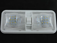 New RV LED 12v Double Dome Light Ceiling Fixture Camper Trailer Marine Motorhome