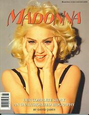 MADONNA  Unauthorized Biography  large paperback book from 1991