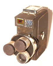 Mansfield Industries HOLIDAY II 8mm Triple Lens Motion Movie Turret Camera