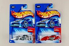 Hot Wheels W-OOZIE Motorcycle 2004 Crooze First Editions *UNPAINTED ZAMAC & RED*