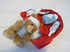 Toy's R us  geoffrey Doctor Kit Soft Play Set Plush Red medical bag with Bear