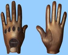 NEW MENS size 7 METALLIC BRONZE GENUINE KID LEATHER DRIVING GLOVES