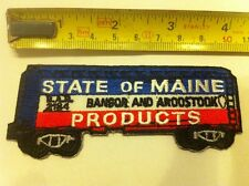 USA Train Patch - State Of Maine Railroad - Sew On Patch   (New*)