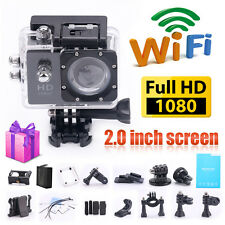 2'' WIFI 12MP 1080P FHD Helmet Motorcycle Sports DV Cam Action Camera Camcorder