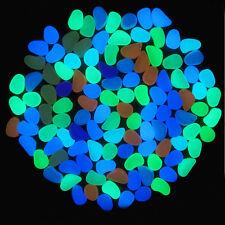 10Pcs Fishes Tank Aquarium Vase Decoration Luminous Artificial Gleaming Stones
