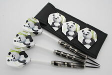 48g Tungsten darts set 'GIANTS' Amazon Panda, dart flights, shafts & dart case