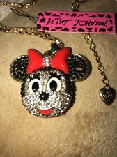 Cute NWT Betsey Johnson Necklace Red  Minnie Mouse