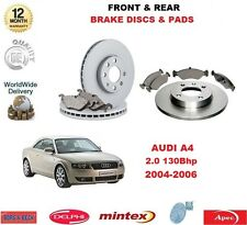 FOR AUDI A4 2.0 130BHP 2004-2008 NEW FRONT & REAR BRAKE PADS & DISCS