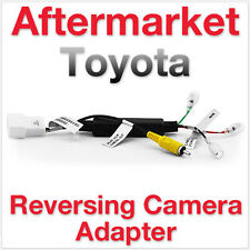 Aftermarket Toyota Reversing Camera Adapter Rear View Parking Backup Safety RCA