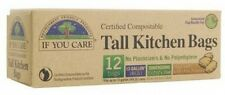 If You Care 12 Compostable Potato Starch Tall Kitchen Bags 13 Gallon Capacity