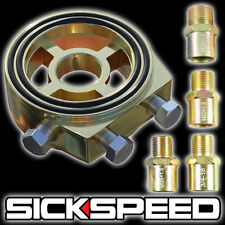 24 KARAT GOLD OIL FILTER SANDWICH PLATE COOLER ADAPTER KIT TURBO FEED LINE T3 C