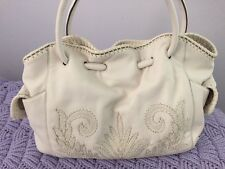 Cole Haan creamy white pebble leather tote handbag NWOT  Excellent