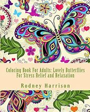 Relaxing Adult Coloring Book Animal Butterfly Creative Fun Stress Relief Art Kid