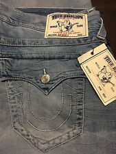 TRUE RELIGION BRAND JEANS MENS SKINNY WITH FLAPS JEANS SZ 40