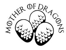 MOTHER OF DRAGONS  Funny Caravan  GAME OF THRONES Novelty Vinyl Decal Sticker